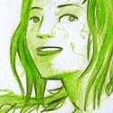 L'héroïne de l'épopée futuriste de Nerual !    \o/ Pour ceux qui ne connaissent pas NAT, il est grand temps de vous mettre à la page :  http://bd-nat.webcomics.fr/ !!!  ;)